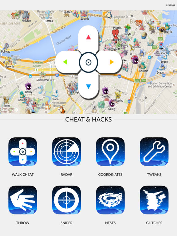 Walk Cheat & Travel Coordinates for Pokemon Go by Hai Lam