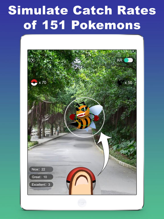 All the apps of the type Pokémon GO Training