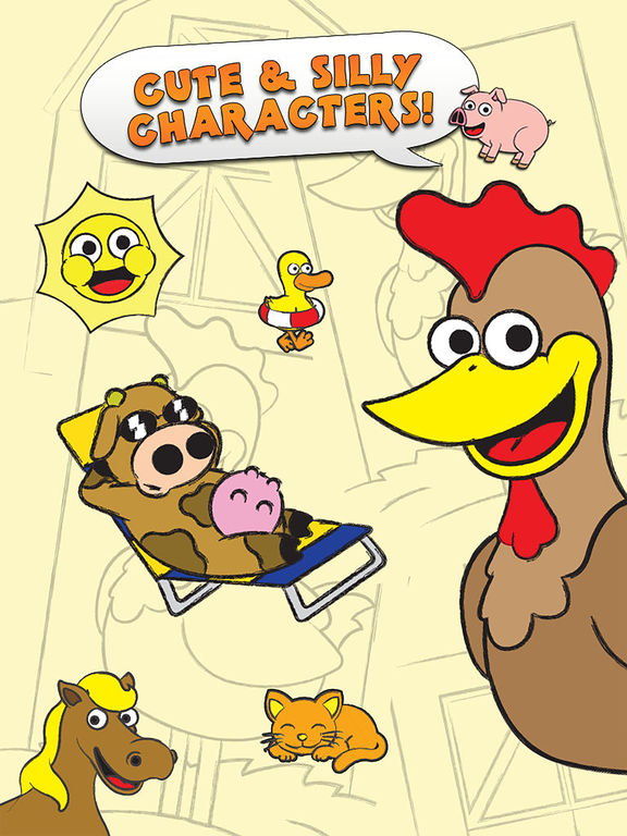 Coloring Farm Animal Coloring Book For Kids Games IPA ...