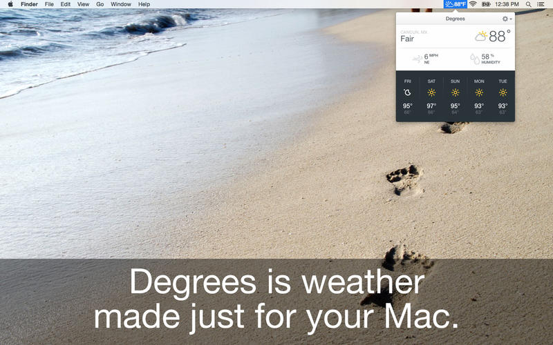 Degrees Weather app for Macs - download for MacOS from Best