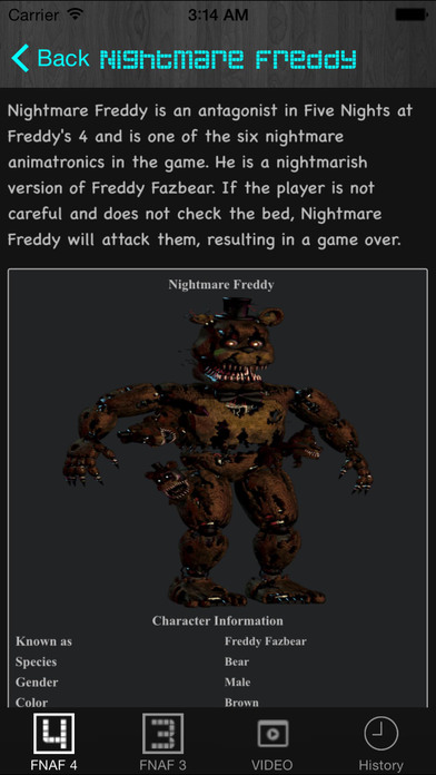 Free Cheats Guide for Five Nights at Freddy's 4 and 3 - AppRecs