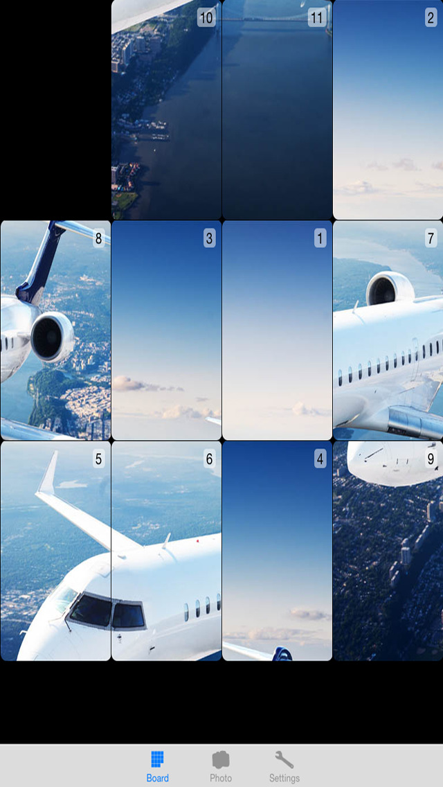 Awesome Trains and Planes Number Puzzle - Sliding photo tiles to complete the Photo FREE Screenshot on iOS