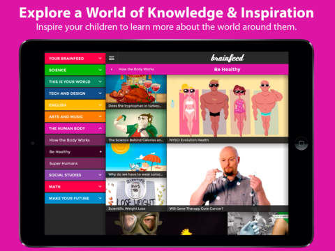 Brainfeed – Educational Videos for Kids Screenshot
