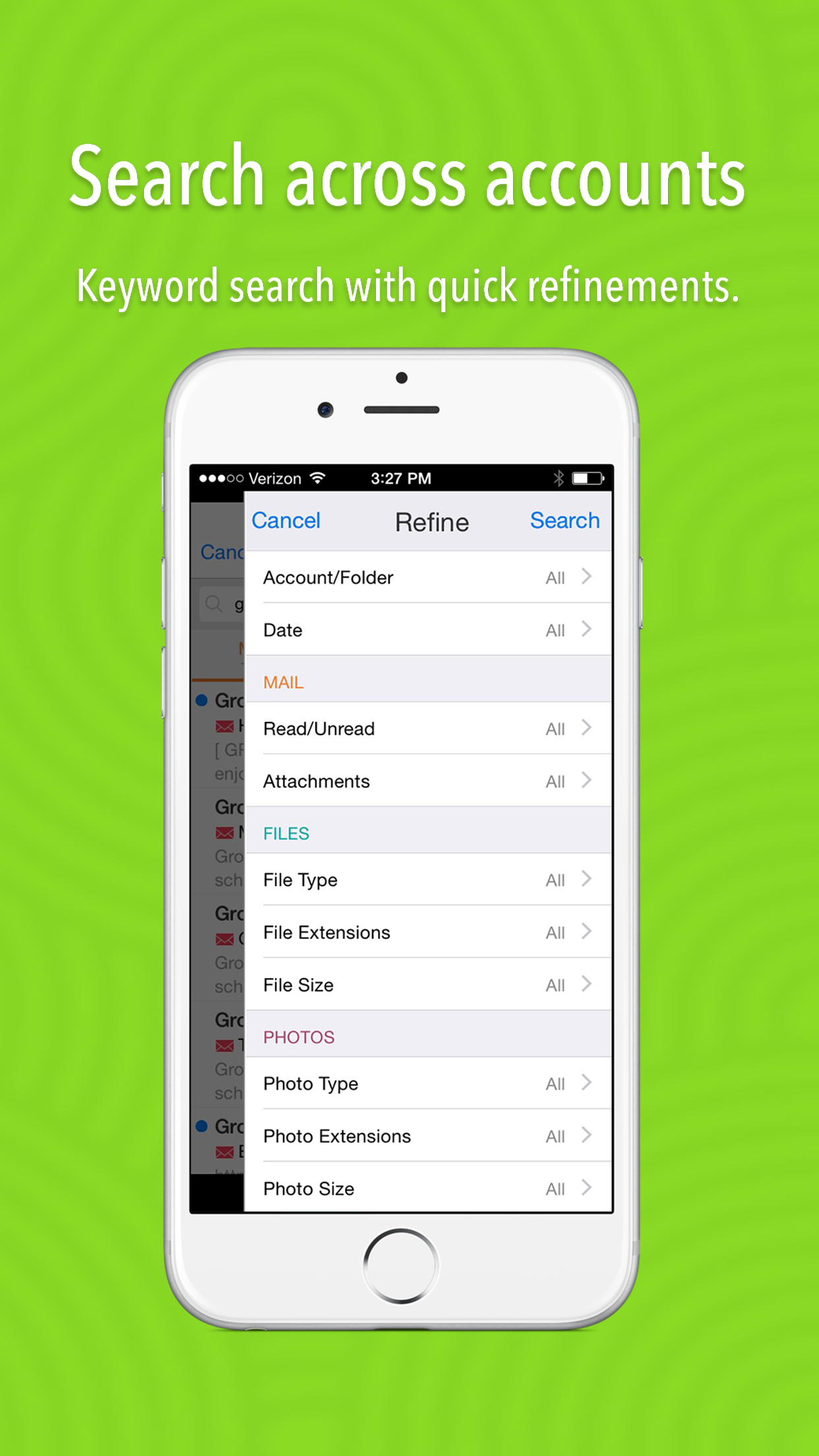 Gusto - Email, Files, Photos Simplified screenshot-4