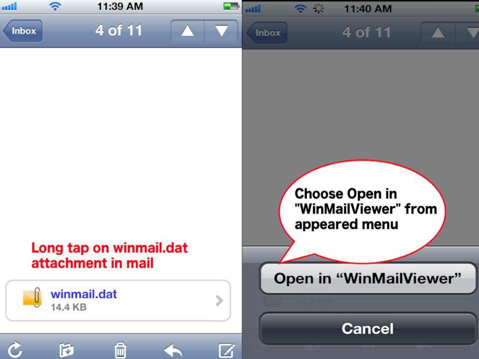 Winmail Dat öffnen Android