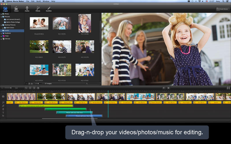 Photo show - Movie Maker on the Mac App Store