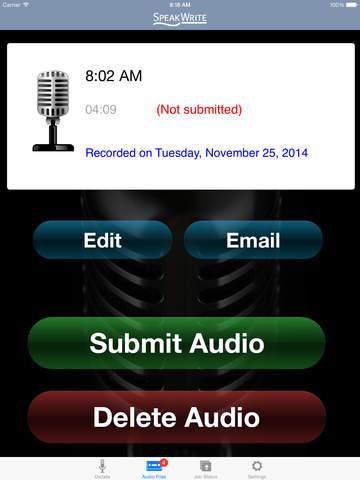 Speakwrite app