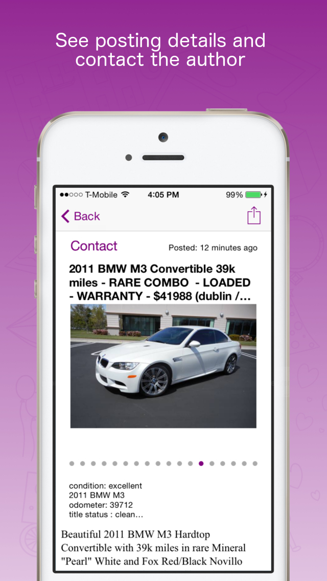 Alerts for Craigslist - Notifications For Classifieds - CraigsAlert Screenshot