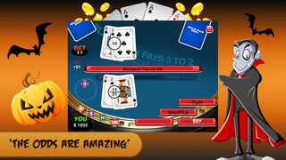 Halloween Blackjack FREE - Trick or Treat Casino Mania Screenshot on iOS
