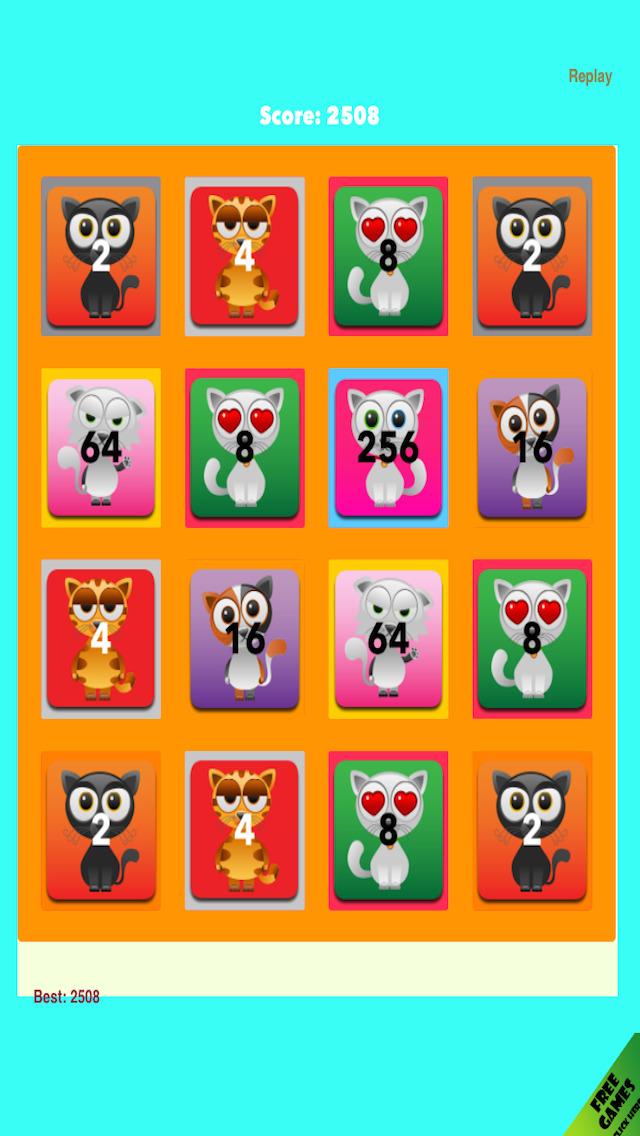 2048 Cute Kittens Craze - Addictive Cat Match Game | iPhone