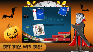 Halloween Blackjack HD - Trick or Treat Casino Mania Screenshot on iOS