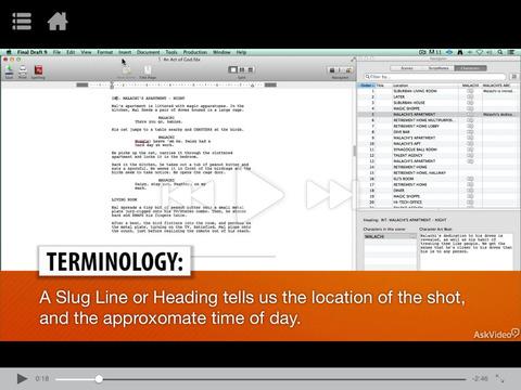 Slug line screenwriting app ipad