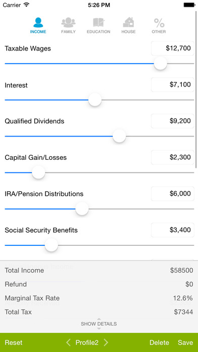 2014 tax calculator business planning services