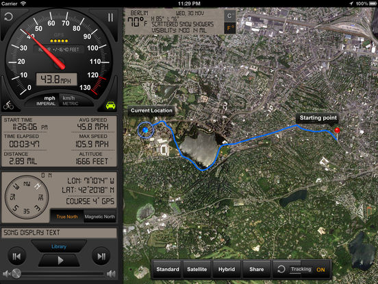 Speedometer GPS+(Car speedometer, Bike cyclometer) Screenshot