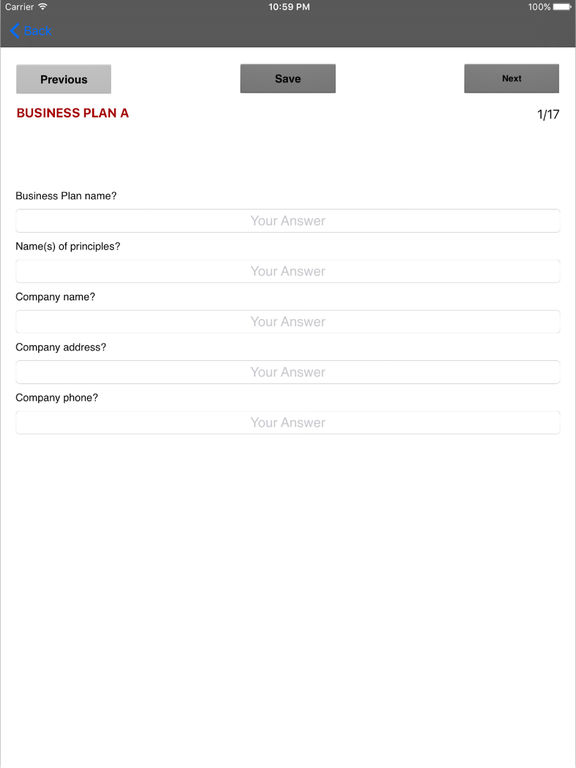 ipad app for creating a business plan