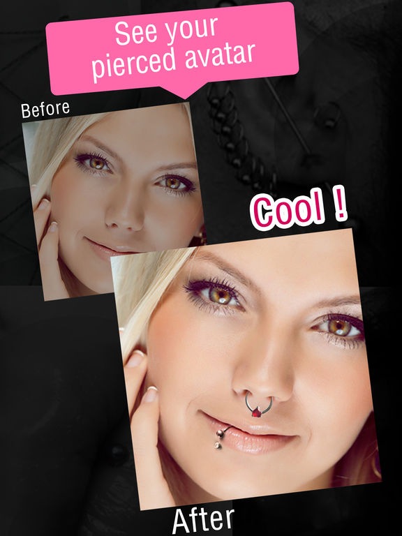 App Shopper: Piercing s Photos Booth, Ink Maker & Editor