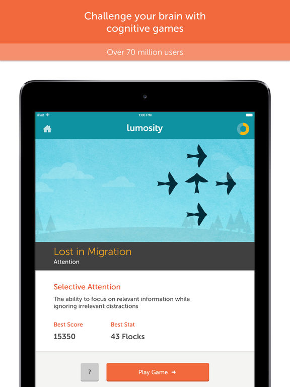 #1. Lumosity — Brain Training for iPad (iOS)