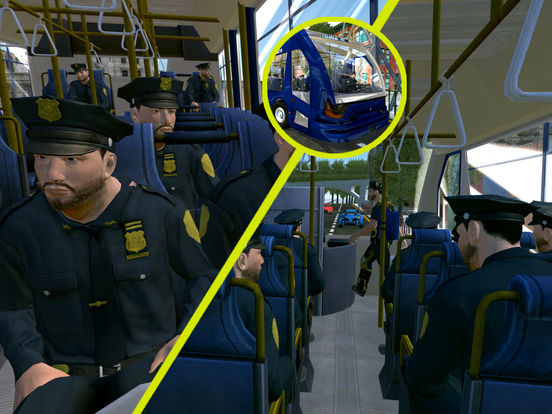 Police Bus City Transporter 3D-ipad-1