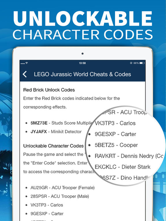 <b>Cheat Codes</b> for <b>Lego Jurassic World</b> by Tan Nguyen