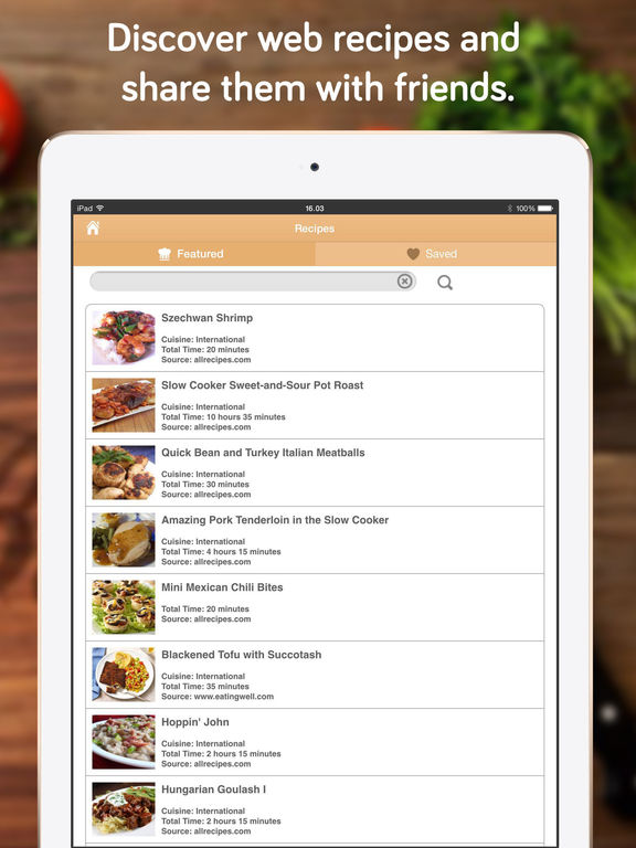 Shopper - Grocery List, Shopping List and Recipes Screenshot
