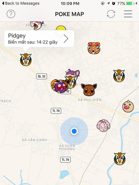 PokeMap for Pokemon Go por Do Duong