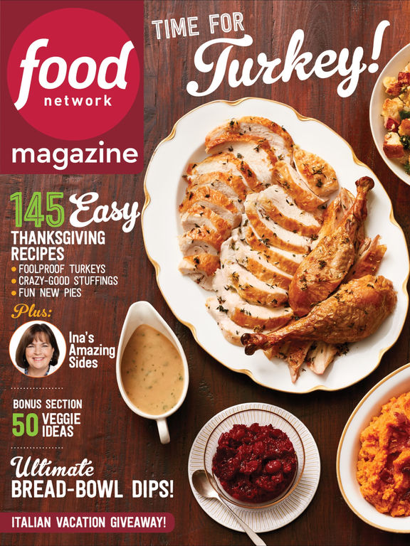 Food Network All Star Thanksgiving Menu
