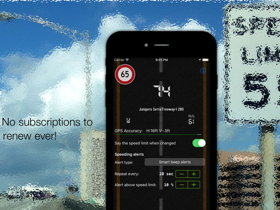 Live speed limit alerts Screenshots