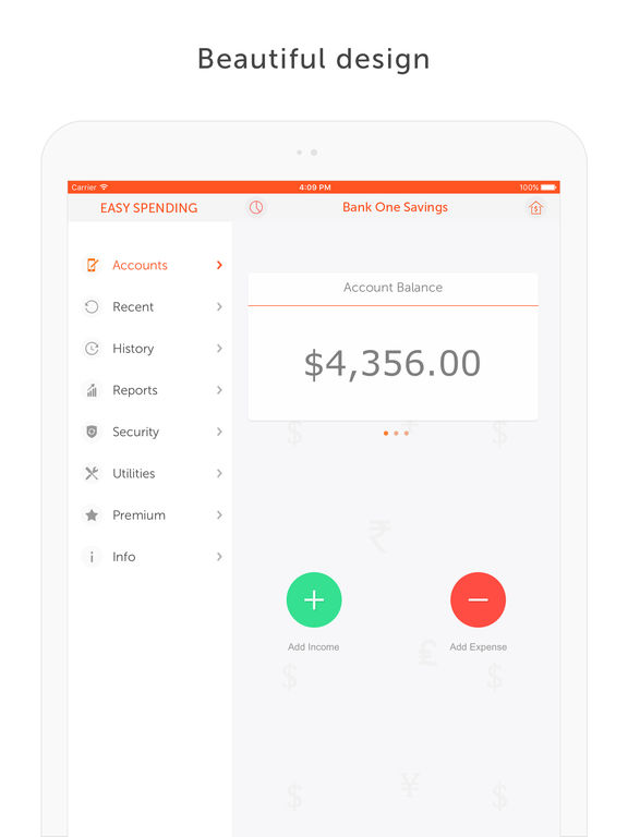Easy Spending Expense Tracker - Manage expenses Screenshot