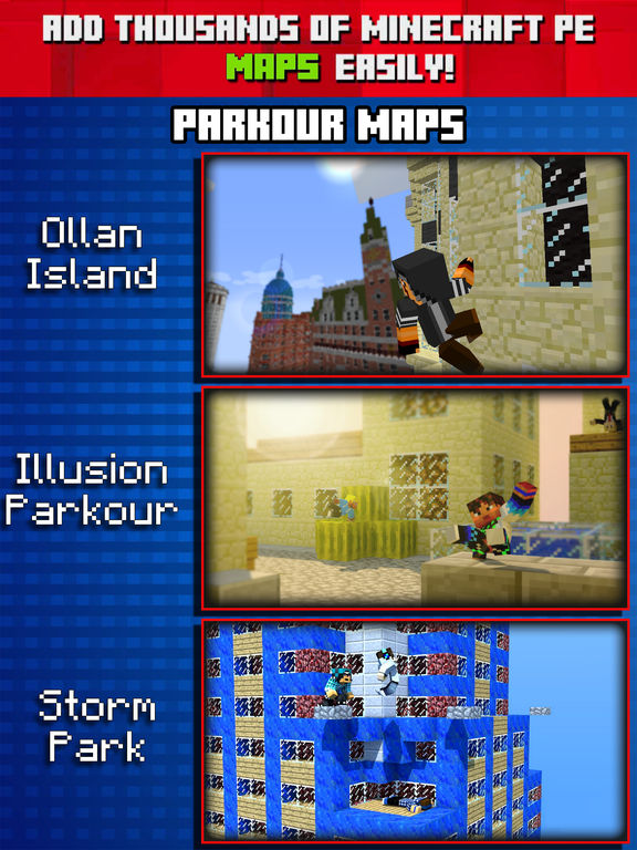 Parkour Maps for Minecraft PE ( Pocket Edition ) by Skinsformi Necraftpe