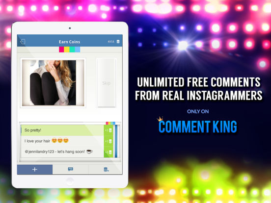 Comment King for Instagram - Get comments & likes iOS