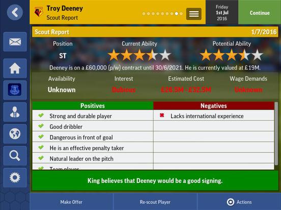 Football Manager Mobile 2017 Screenshots