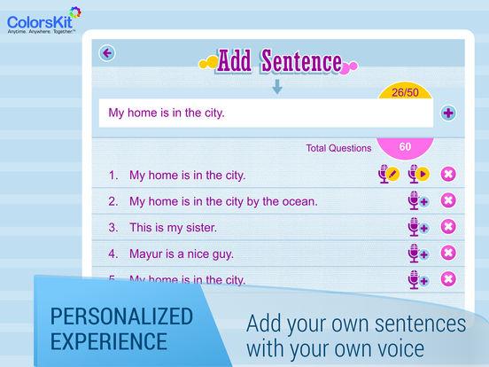 Make Sentences - Age 5-35. Screenshots