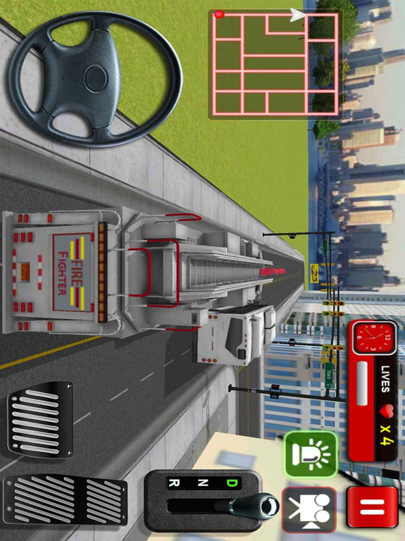 Fire Fighter Rescue Truck - Fire Truck Game 3D iOS Game