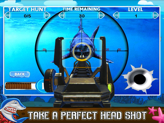 Flying Hungry Shark Endless Shooting Sniper Games-ipad-1